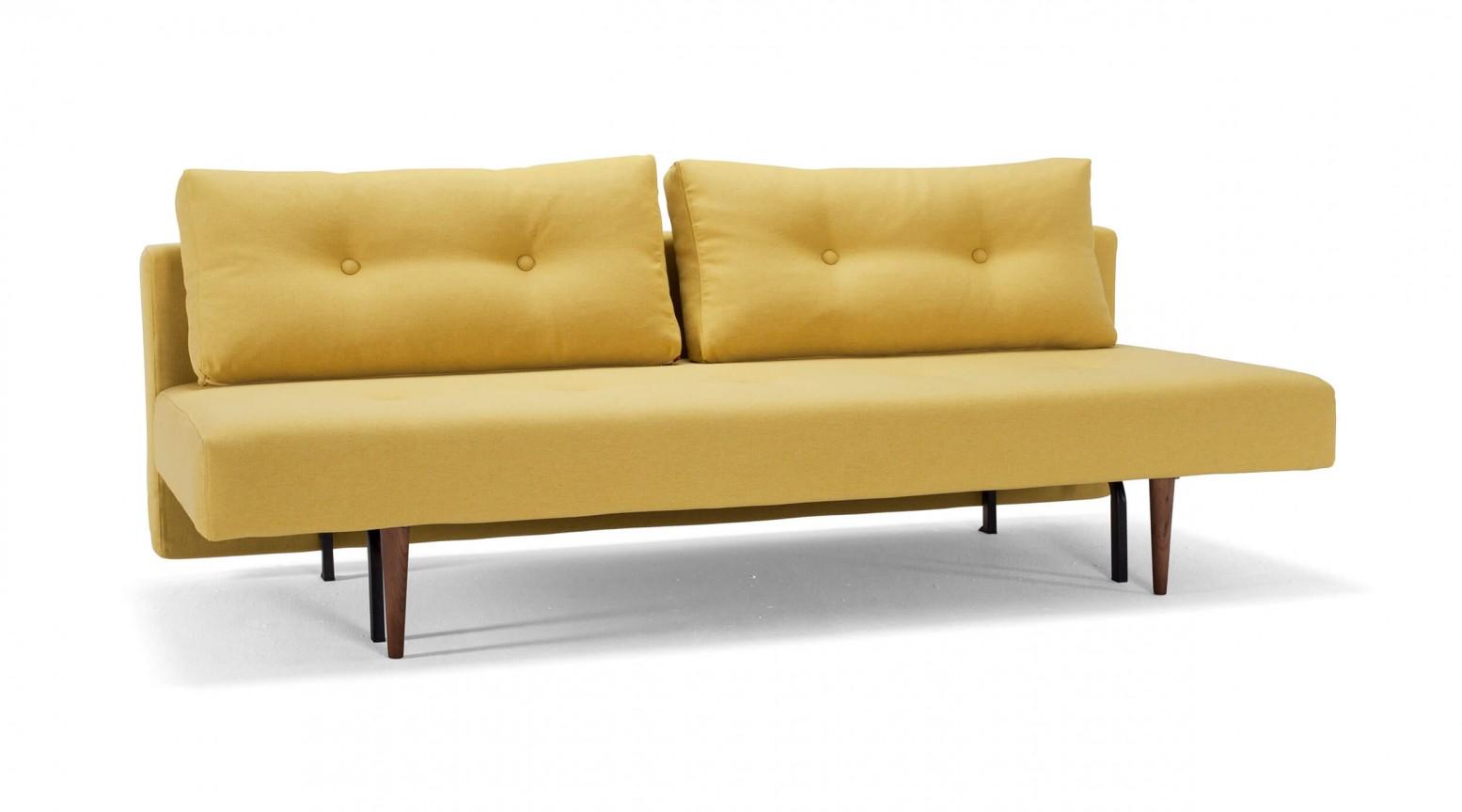Astonishing Recast Plus Sofa Bed 554 Soft Mustard Flower Fabric By Innovation Living Creativecarmelina Interior Chair Design Creativecarmelinacom