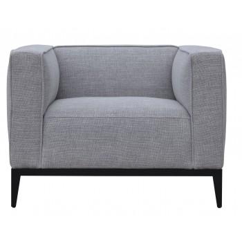 California Armcahir, Black Base, Grey Tweed by SohoConcept Furniture