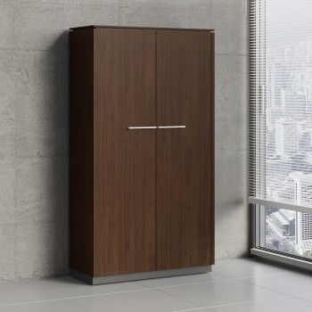 Status 2 Door Wardrobe/Storage Cabinet w/Slide Out Hanger X52, Chestnut