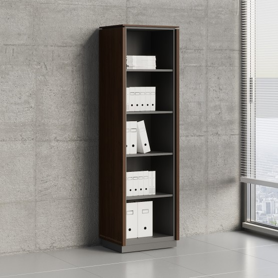 Status Open Storage Cabinet X59, Chestnut photo