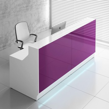 Linea LIN25 Reception Desk, Fuchsia