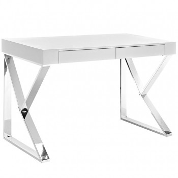 Adjacent Desk, White by Modway