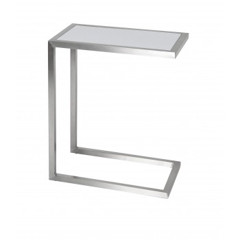 Alfa End Table, Set of 2, White Lacquer by SohoConcept Furniture