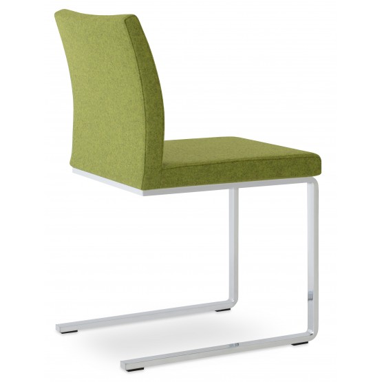 Aria Flat Dining Chair, Forest Green Camira Wool photo