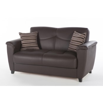 Aspen Loveseat, Santa Glory Dark Brown by Sunset International Trade