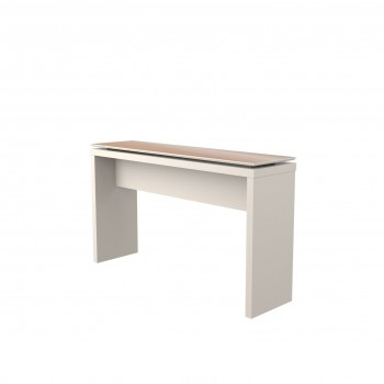Lincoln Console Table, Off White + Maple Cream