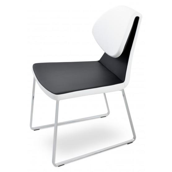 Gakko Sled Chair, Chrome, Black & White PPM photo