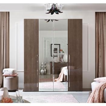 Platinum 4-Door Wardrobe w/Mirror