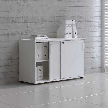 Sliding Doors Storage Unit A2P06, White