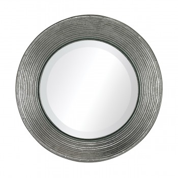La Quinta Mini Mirror In Hammered Metal Frame