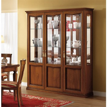 Nostalgia 3-Door Vitrine, Walnut