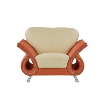 U559 Chair, Beige + Orange