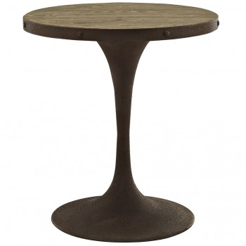 "Drive 28"" Round Wood Top Dining Table, Brown by Modway"