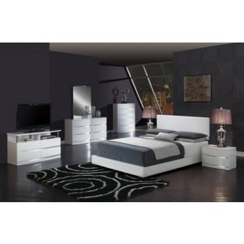 8103 3-Piece King Size Bedroom Set, White