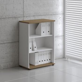 Basic K3504 Open Storage, White + Canadian Oak