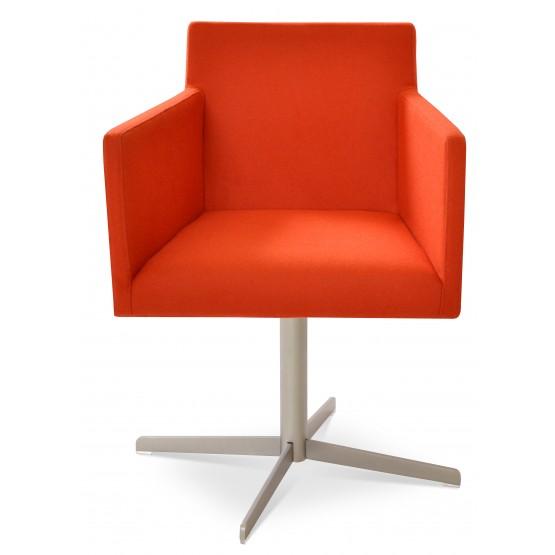 Harput 4 Star Swivel Arm Chair, Orange Camira Wool photo