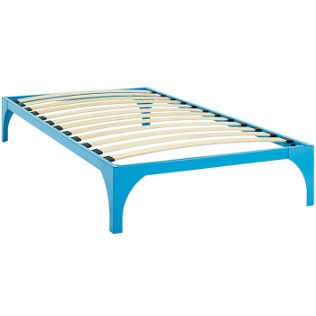 Ollie Twin Bed Frame, Light Blue by Modway