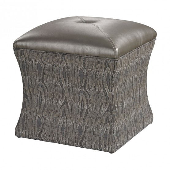Luxe Ottoman In Grey photo