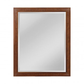 Angled Carved Wood Frame Mirror - Medium