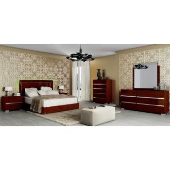 Live 3-Piece King Size Bedroom Set, Walnut