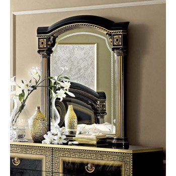 Aida Mirror, Black + Gold