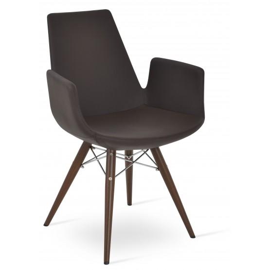 Eiffel Arm MW Plus Chair, Walnut Veneer Steel, Brown PPM photo