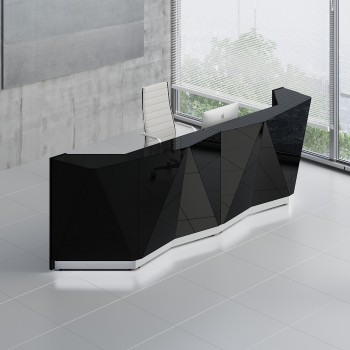 Alpa ALP15 Reception Desk, Black