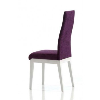 Ada Dining Chair, White Base, Violet Upholstery