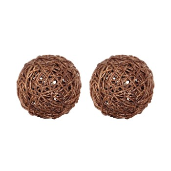 "Woven Sphere 9"", Set of 2"