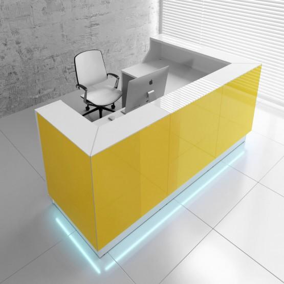 Linea LIN39L Reception Desk, Yellow photo