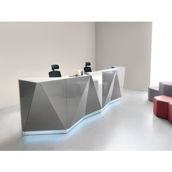 Alpa ALP15 Reception Desk, Aluminum
