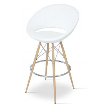 Crescent MW Bar, Natural Veneer Steel, White PPM by SohoConcept Furniture