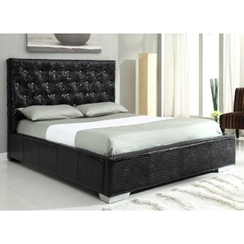Michelle Full Size Bed, Black by At Home USA