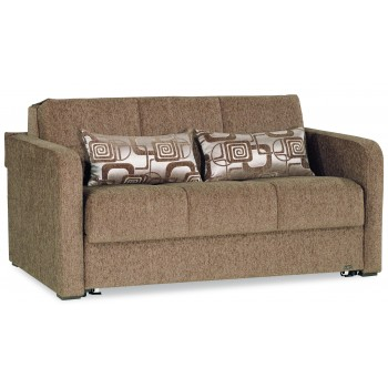 Ferra Fashion Loveseat Sleeper, Brown by Casamode
