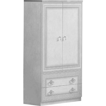 Aida 2-Door Wardrobe, White