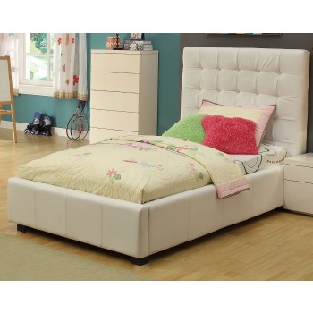 Athens Twin Size Bed, White