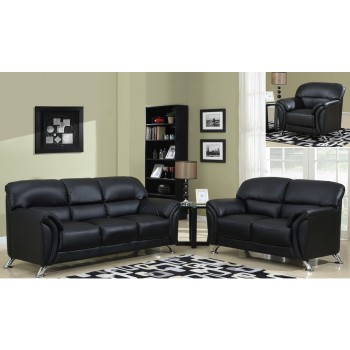 U9103 3-Piece Living Room Set, Black