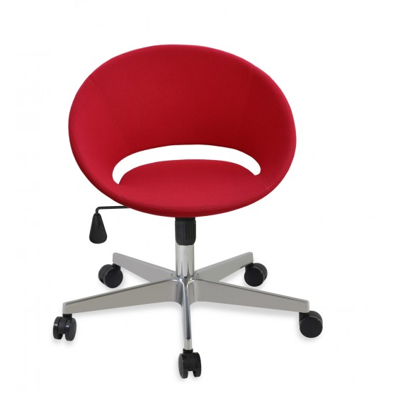Crescent Office Chair, Base A2, Red Wool photo
