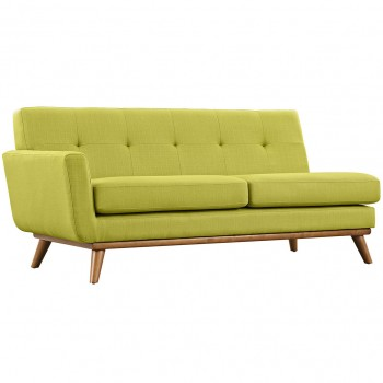 Engage Left-Arm Loveseat, Wheatgrass by Modway
