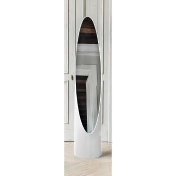 Kolonaky Mirror, White Leather