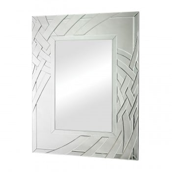 Arched Ribbons Beveled Edge Glass Mirror