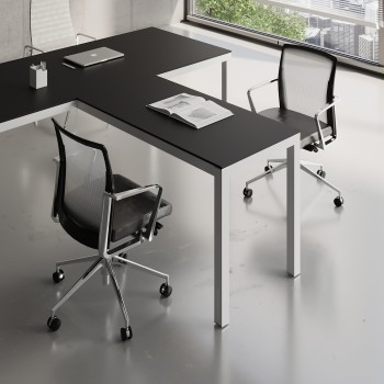 Impuls Desk Extension IM07, White Pastel + Black
