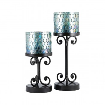 Ambia Pillar Holder, Set of 2