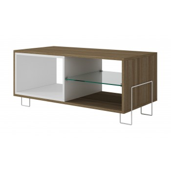 Boden TV Stand, White + Oak
