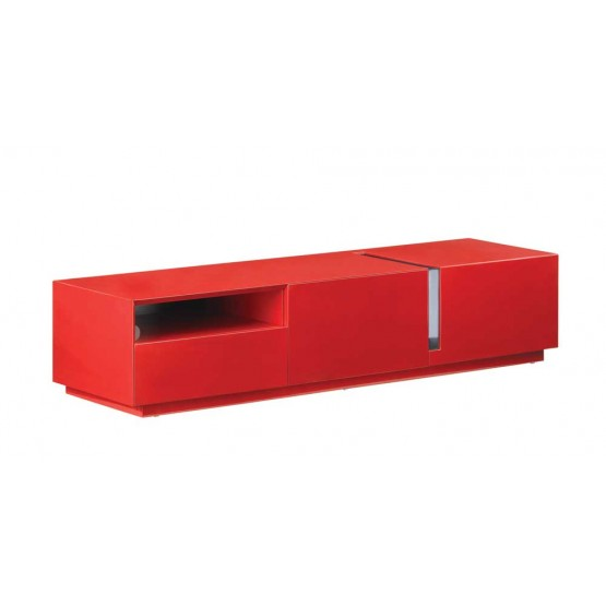027 TV Stand, Red High Gloss photo