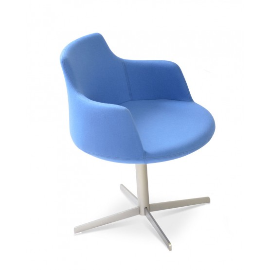 Dervish 4 Star Swivel Chair, Sky Blue Camira Wool photo