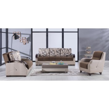 Costa 3-Piece Living Room Set, Best Brown