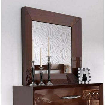Carmen Small Mirror, Walnut