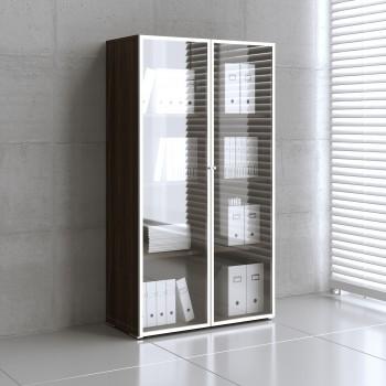 Mito Storage w/Glass Doors MIT16, Dark Sycamore