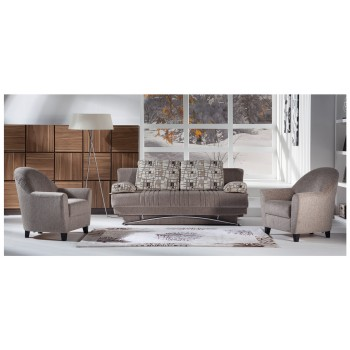 Fantasy 2-Piece Living Room Set, Aristo Light Brown